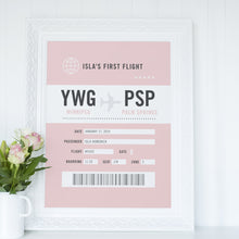 Baby's First Flight Art Print - Cute Nursery & Kids Room Decor (Personalized!)
