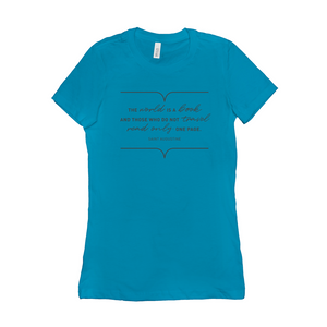 The World Is A Book Women's T-Shirt - Cute Tee For Her