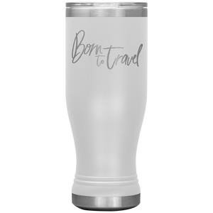 The Born To Travel Travel Mug Classic Boho 20oz Tumbler For Any Adventure