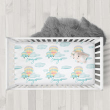 Personalized Hot Air Balloon Ride Crib Sheets