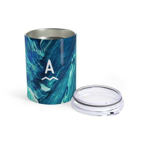 Blue Waves Travel Tumbler / 10oz (Personalized!)