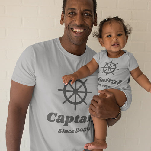 Captain & Admiral Dad & Baby Bundle (Perfect For Moms Too!)
