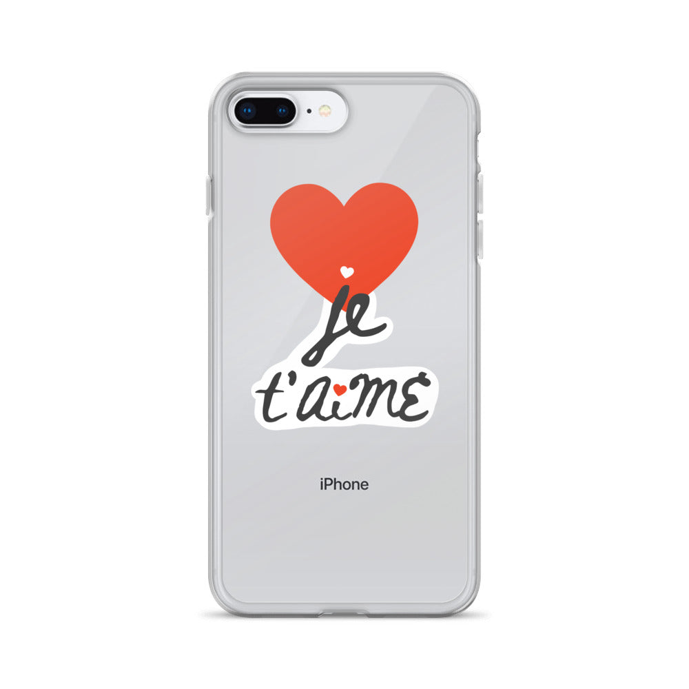 Je T'aime iPhone Case / Language of Love French Edition