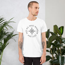 The 'Not All Who Wander Are Lost' Unisex T-Shirt - Cool Compass Version