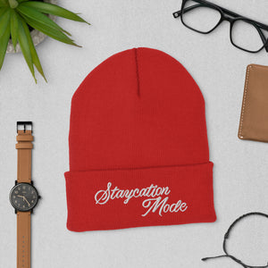 The Staycation Mode Cuffed Beanie - Stay Warm In Style