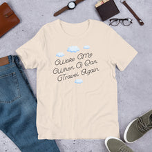 "Hilarious ""Wake Me When I Can Travel Again"" Short-Sleeve Men's T-Shirt"