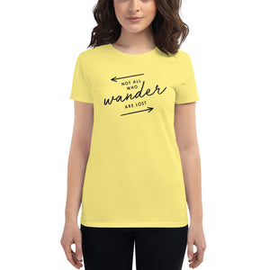 The 'Not All Who Wander Are Lost' Women's T-Shirt - Cute Arrows Version