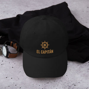 "Custom Father's Day Cap - ""El Capitán"" Dad Hat With Year On Back"