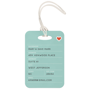 Custom 'Love In the Air' Metal Luggage Tag