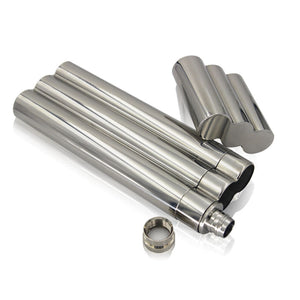 The 'Gotcha Covered' Stainless Steel Cigar & Flask Travel Kit
