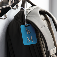 Custom 'Love Initials' Metal Luggage Tag