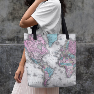 Maps Of The World Tote Bag - Cool, Unique Beach & Shopping Tote.