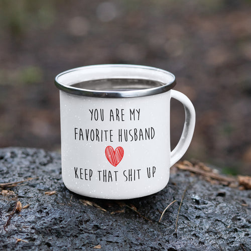 Cheeky 'My Favorite Husband' Camping Mug