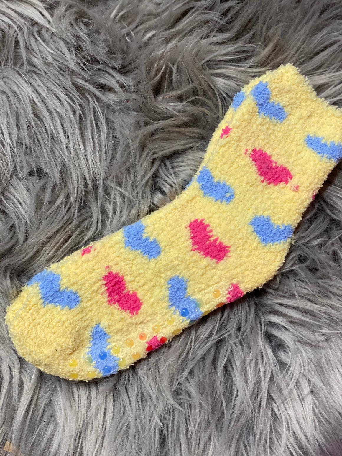Kids Fuzzy Heart Socks