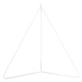 6 ft Powder Coated Steel Stand (White)