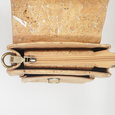 CARTERA BANDOLERA GOLD CORK