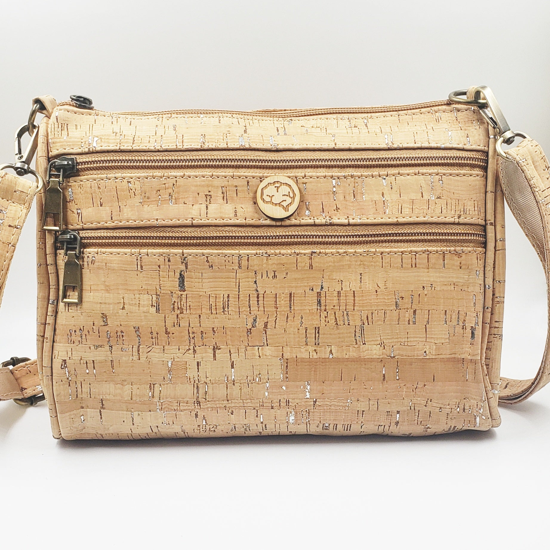 CARTERA DAILY CORK PLATEADA