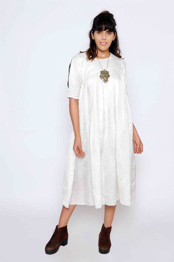 A straight pleated kurta
