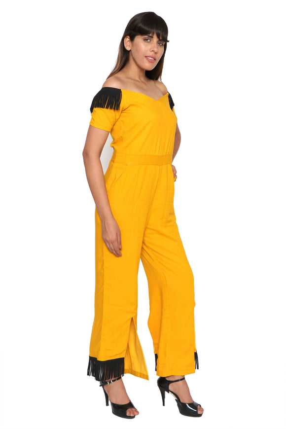 An off shoulder Jumpsuit