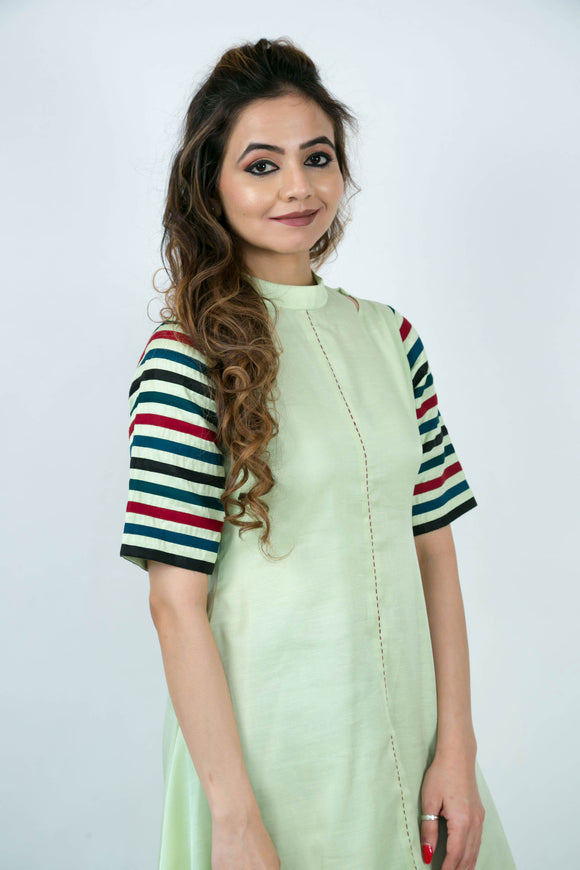 Flare High-low Cotton Kurta
