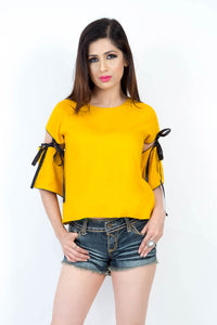 Close Fill Bell Sleeve Bodice Top.
