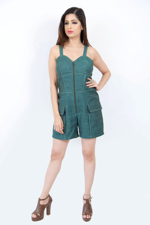 Playful Seam Highlight Romper.