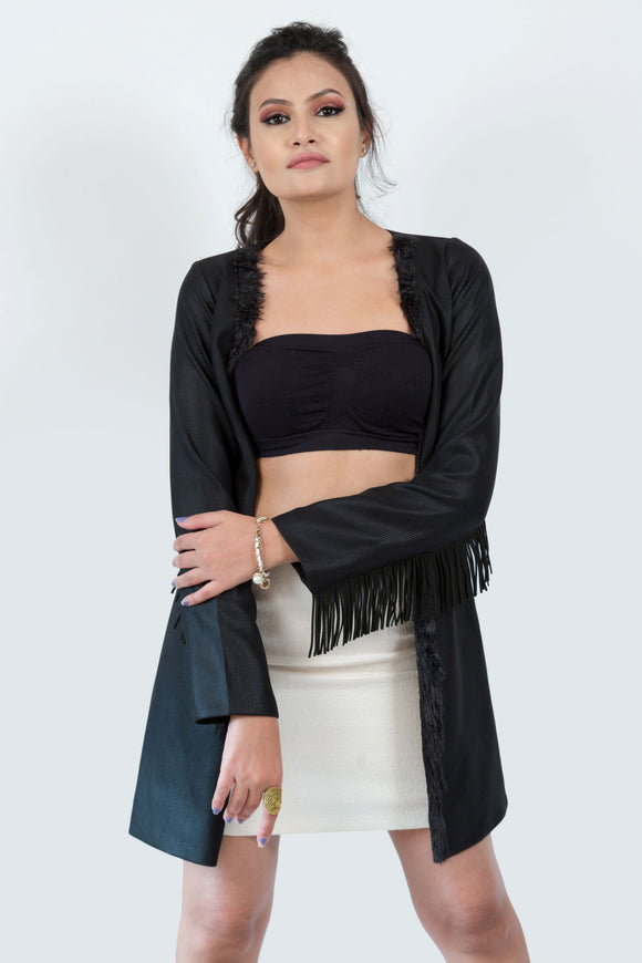 Fringe Korean Silk Jacket