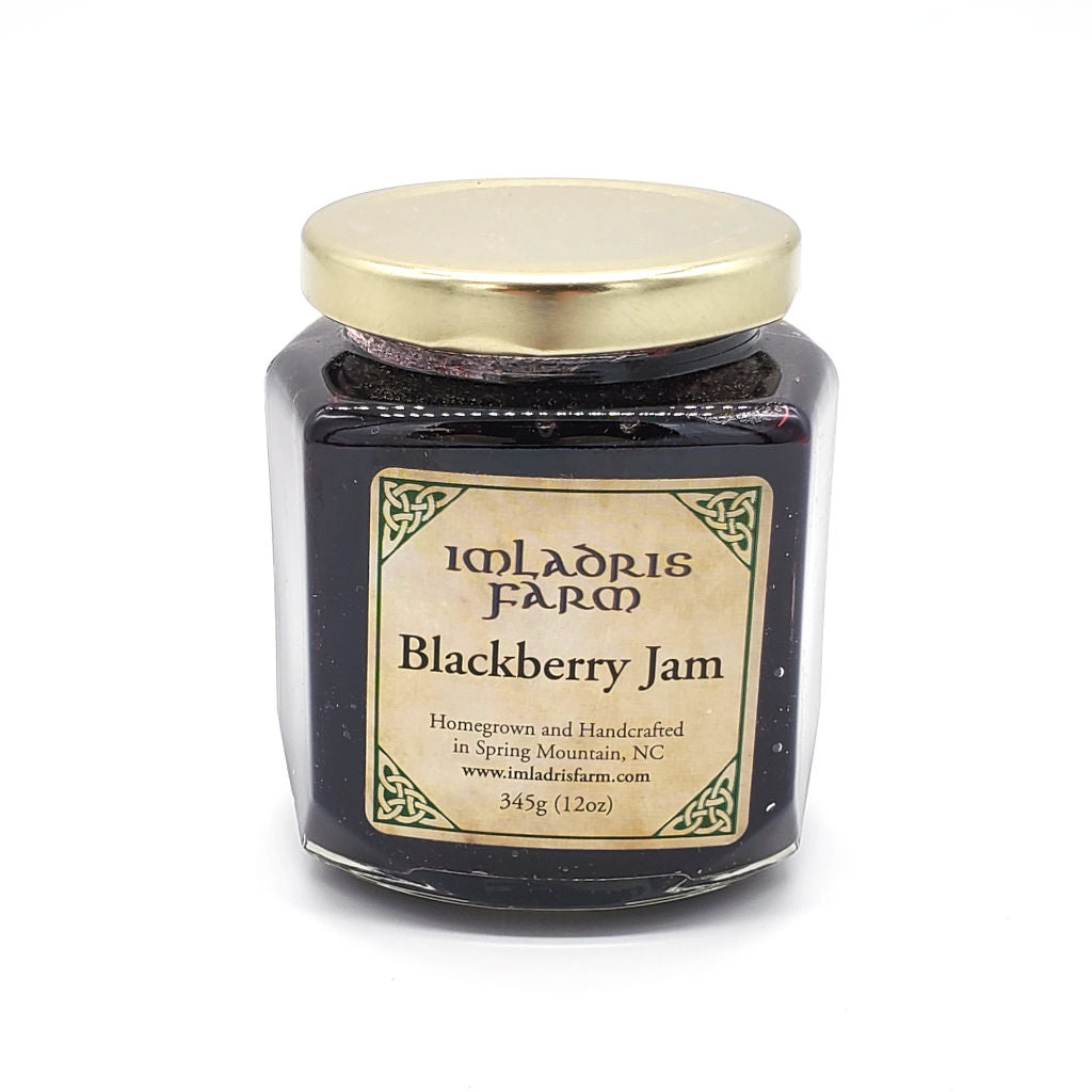 Blackberry Jam in 12 oz jar