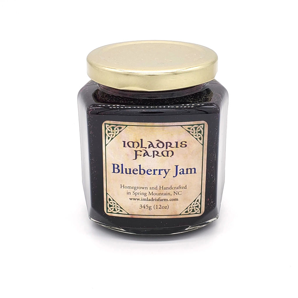 Blueberry Jam in 12 oz jar