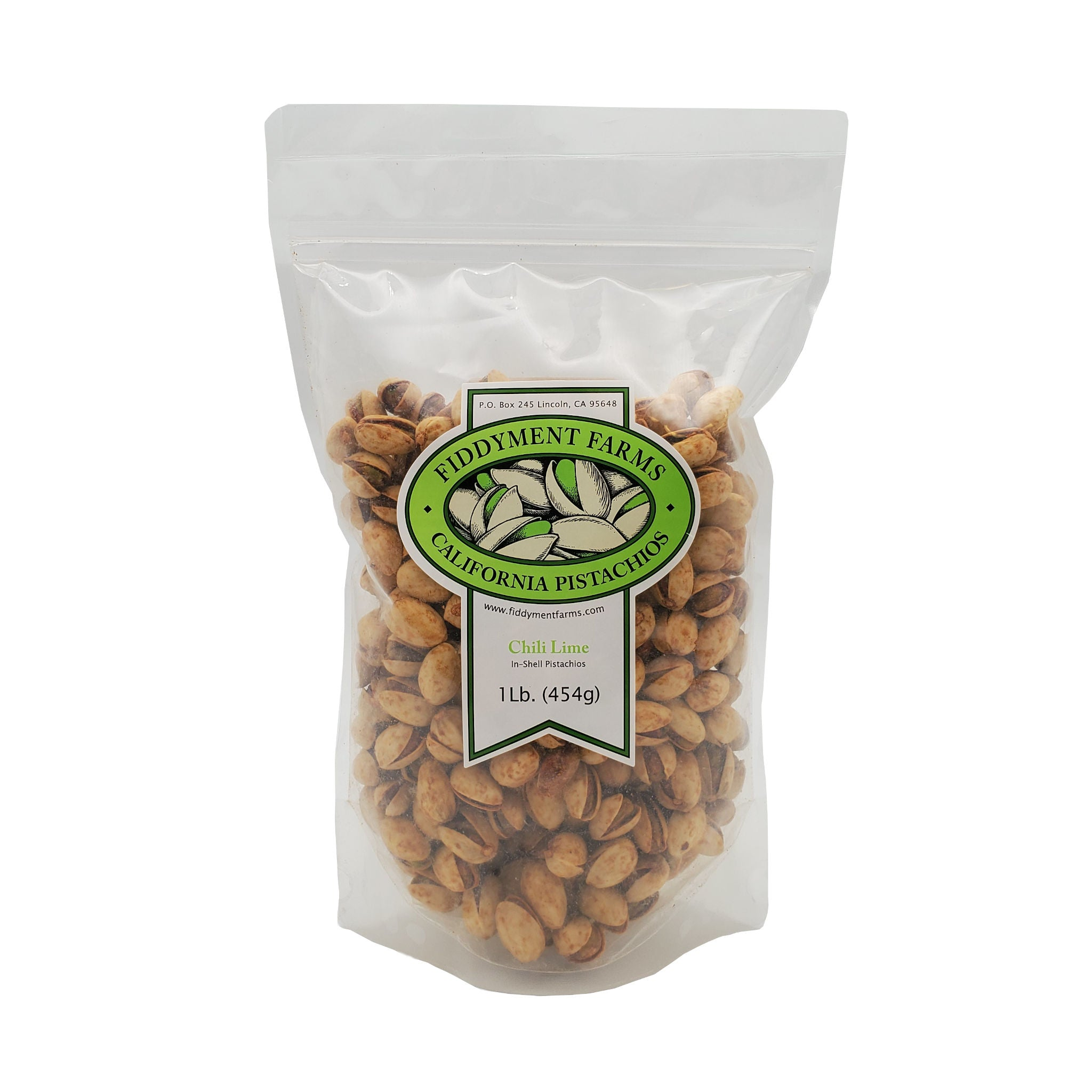 Chili Lime Pistachios in 1 lb bag