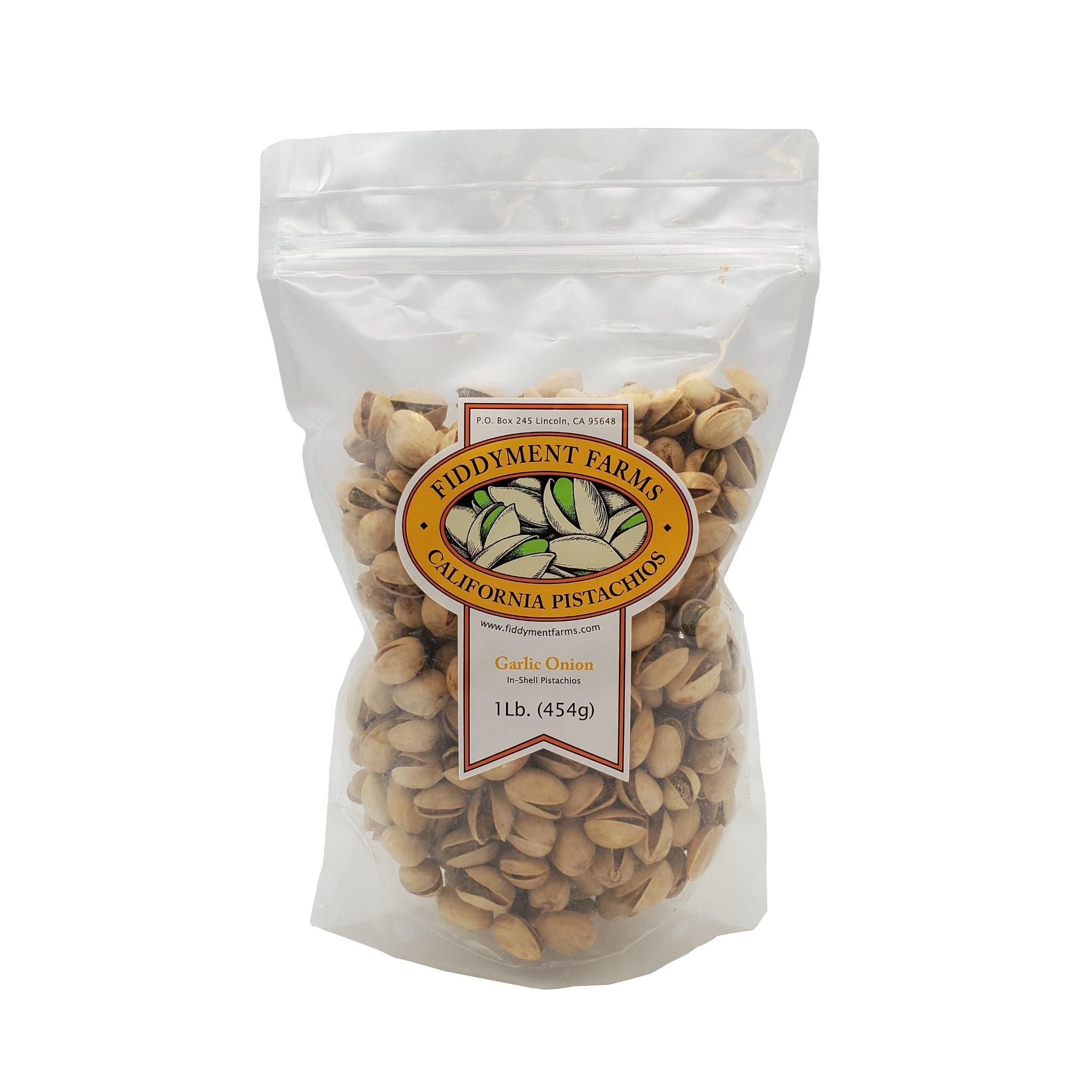 Garlic Onion Pistachios in 1 lb bag