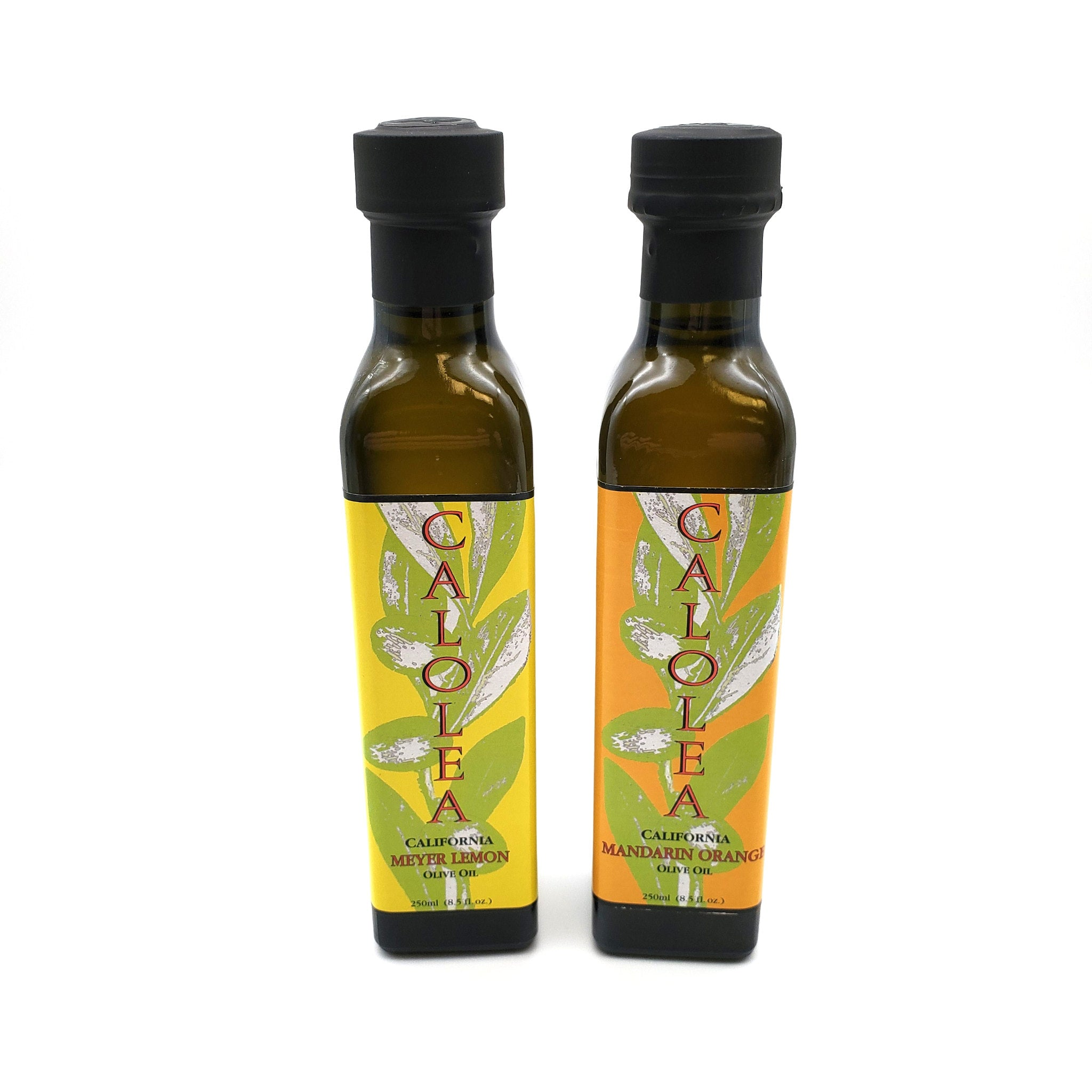 Meyer Lemon Olive Oil and Mandarin Orange Olive Oil in 250 ml bottles