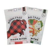 Bison Bites Two Pack, Original Bison Bites 2.0 oz. bag, Wood Fired Pizza Bison Bites 2.0 oz. bag