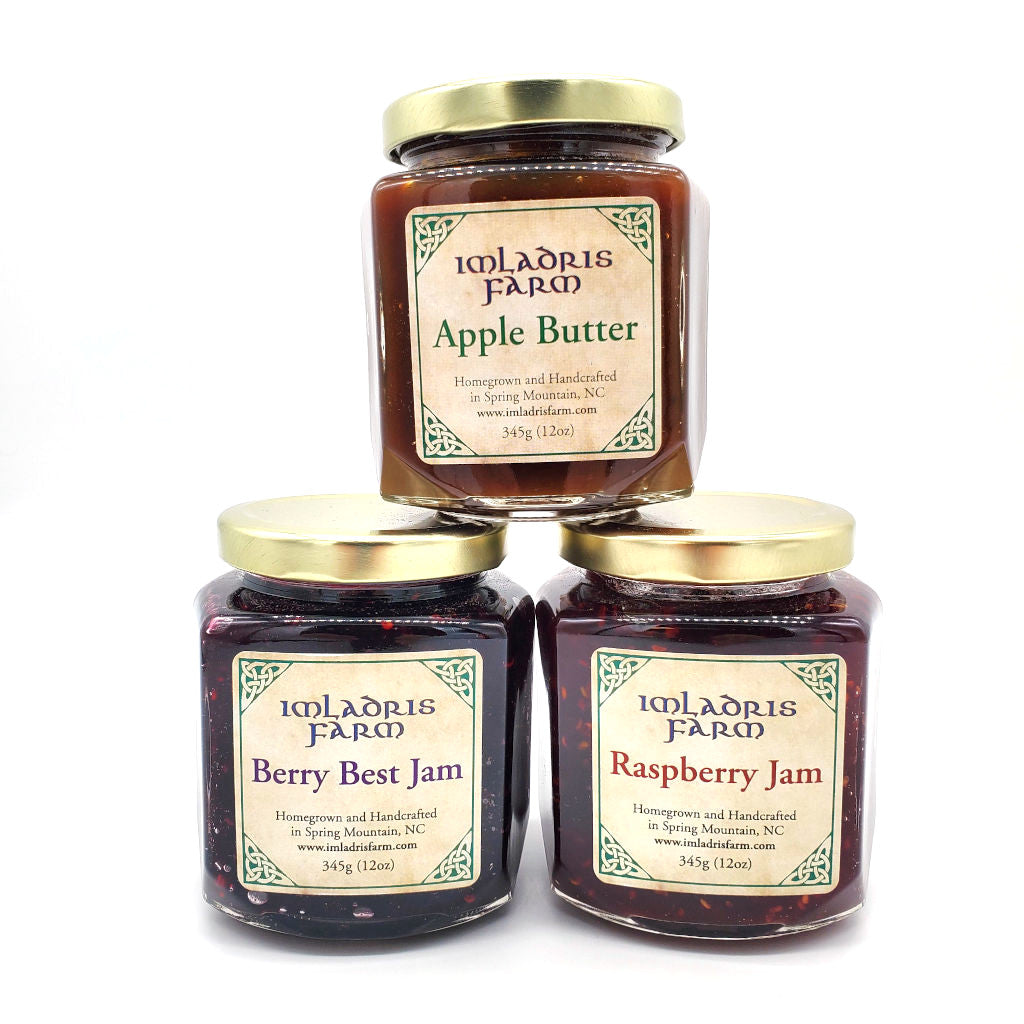 Apple Butter Berry Best Jam and Raspberry Jam