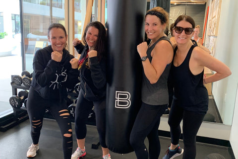 Felicia Alexander Practicing Boxing Workout with Her Fellow Mates