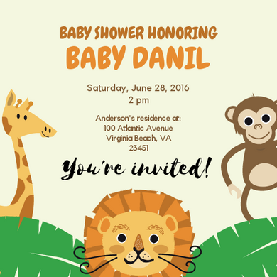 Baby shower invitations Personalized for any event with your details