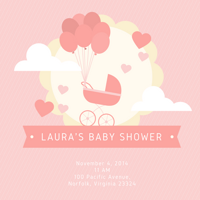 Girls Baby shower invitations Personalized for any event with your details