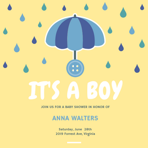 It's a boy! themed invitations Personalized for any event with your details