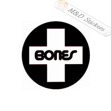 2x Bones skateboards Logo Vinyl Decal Sticker Different colors & size for Cars/Bikes/Windows