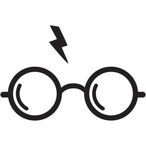 2x Harry Potter glasses and scar Vinyl Decal Sticker Different colors & size for Cars/Bikes/Windows