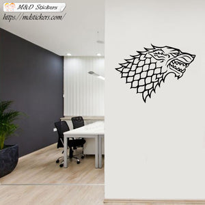 Wall Stickers Vinyl Decal Winterfell Stark Wolf