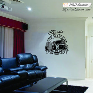 Wall Stickers Vinyl Decal Classic Hotrod