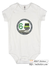 Cartoon cars themed monthly bodysuit baby stickers