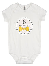 Monthly baby stickers. Bowtie Onesie month stickers. Boys, mustache, gentleman bodysuit labels