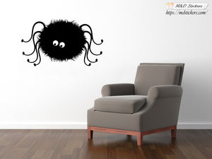 Wall Stickers Vinyl Decal Furry Spider