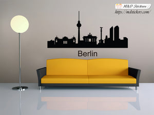 Biggest cities in the world series Wall Stickers Vinyl Decal Berlin Germany Europe