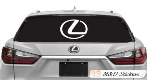 2x Lexus Logo Vinyl Decal Sticker Different colors & size for Cars/Bikes/Windows