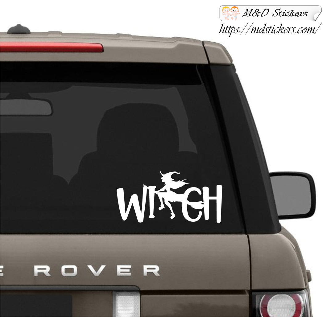 Auto Car Truck SUV Vinyl Decal Witchword Laptop Window 7