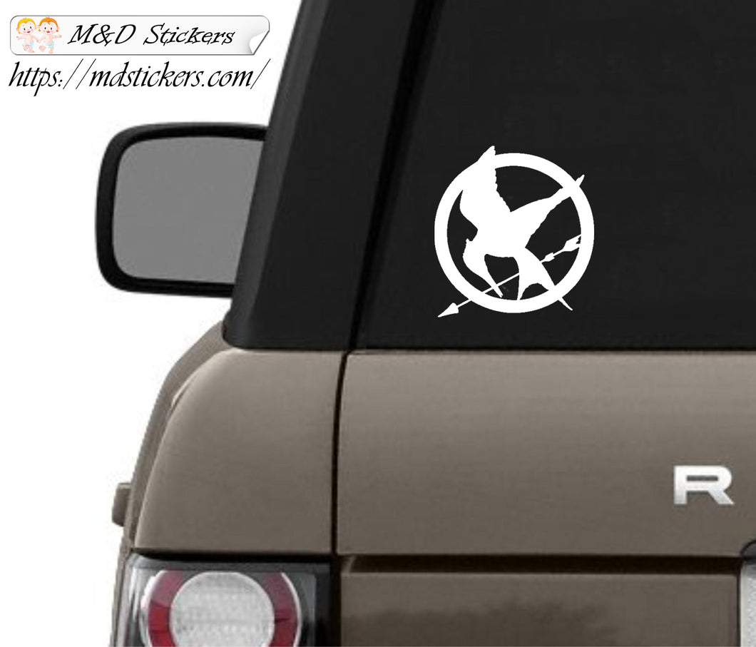 Auto Car Truck Vinyl Decal mockingjay Laptop Window 7