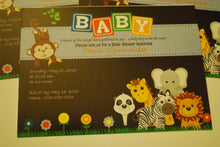 Baby shower invitations animals themed Personalized for any event with your details.